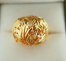 New!Veronese feather wrap ring yellow gold plated sterling silver,size L,QVC