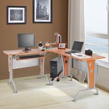 HOMCOM Computertisch Eck-Computertisch Eckschreibtisch Bürotisch PC Tisch