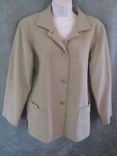 Linda Allard Ellen Tracy Blazer Size 8 Cotton & Silk Blend Suit Jacket Textured