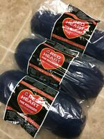 "[CRAFTS] Lot of 3 Skeins of Red Heart ""The Pounder"" Yarn - #387 Soft Navy (Blue)"