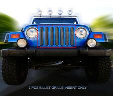 Fits 1997-2006 Jeep Wrangler Billet Grille Main Upper Grill Insert Fedar