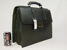 $1795 NWT DOLCE GABBANA Briefcase A1247, BM0856 BLACK Textured Leather 80999 Bag