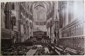 Old Postcard Of Canterbury Cathedral 1905