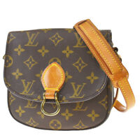 Auth LOUIS VUITTON Mini Saint Cloud Shoulder Bag Monogram Brown M51244 73MD792