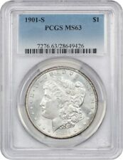 1901-S $1 PCGS MS63 - Better Date S-Mint - Morgan Silver Dollar