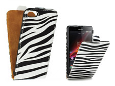 Housse Etui (SLIM CUIR ZEBRE) ~ Samsung i9100 Galaxy S2 // i9105 Galaxy S2 Plus