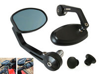 Motorbike Bar End Mirrors with M8 Blanking Plugs High Quality Billet Ally Ducati