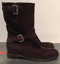 Authentic Prada Donna moro boots brown suede sport vintage svendita scarpa 6.5