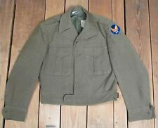 VINTAGE 1940s US ARMY AIR FORZE lana Field Jacket Seconda guedda MONDIALE ALI