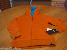 Boys kid youth surf 4 Hurley hoodie jacket coat sweat shirt blaze orange heather