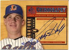2001 SP Prospects Chirography Toby Hall Autograph Tampa Bay Rays