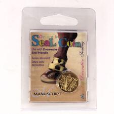 Manuscript Decorative Wax Sealing 18mm Coin Seal - Initial V
