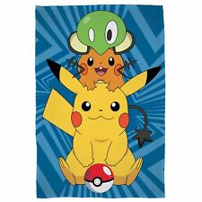 POKEMON CATCH LARGE FLEECE BLANKET NEW