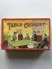 Vintage Milton Bradley Table Croquet early 1900s