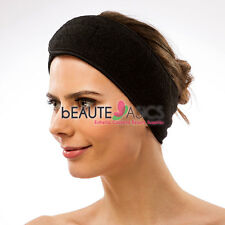 "Stretchable Spa Headband 3.5"" Wide Thick Terry Cloth"