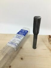"Grobet USA Carbide Burr Bur Bit, 3/8"" SB-3L End Cut Cylinder, Extra Cut Length"