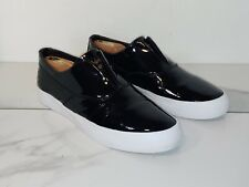 Huff Dilan Shinny Black Leather Slip On Sneakers Mens 10.5