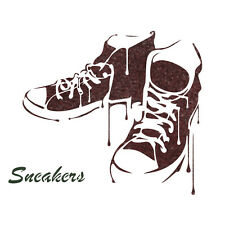 Sneakers Stencil Reusable Template for DIY Crafts and Wall Decor Painting