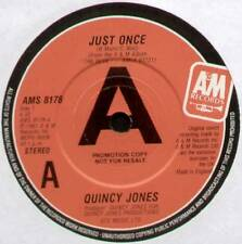 """[BARRY MANN & CYNTHIA WEIL] QUINCY JONES ~ JUST ONCE ~ 1981 UK """"PROMO"""" 7"""" SINGLE"""