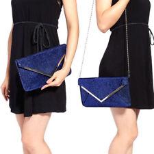 Borse da donna borsette pochetti blu con fantasia ornato di strass
