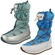 Botas de mujer de nieve color principal azul sintético