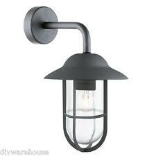 SEARCHLIGHT 3291BK SUPERB QUALITY IP44 MATT BLACK OUTDOOR WALL LANTERN LIGHT.