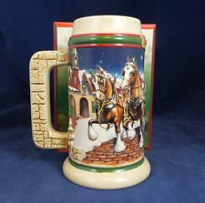 "1998 Budweiser Holiday Stein ""Grants Farm Holiday"" CS 343"