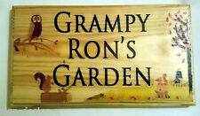Grand jardin automne personnalisée plaque / signe-grand-père jardinage servi DAD