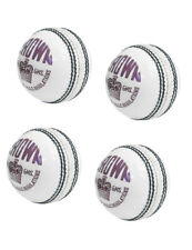 Crown White Genuine Leather Ball Youth Boys Enitre Stitched 4 Pce Ball Pack Of 4