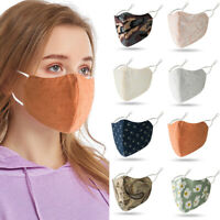 Face Mask Washable Breathable Reusable Adult Mouth Protection Face Cover Print ~