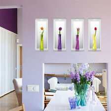 3D Elegant Flower Vase Home Room Decor Removable Wall Sticker Decal Decoration