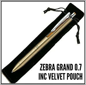 Zebra Sarasa Grand gel Ink Retractable Rollerball Pen 0.7 Black ink gold body
