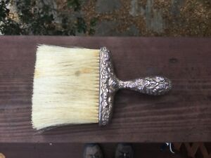 """Antique Gorham # 144 Repousse Sterling Silver Handled 6"""" Clothing Brush"""