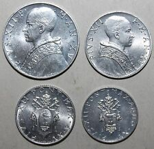 Vatican City 4 Coin Lot 1953 - 10 5 2 Lire 1 Lira Pope Pius XII Catholic Church