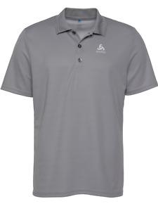 Odlo Size L Large Grey Marl Short Sleeve Stretch Poloshirt TOP T-Shirt Gift £46