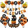 36Pc Happy Confetti Balloons Banner Bunting Hanging Letter Funny Decor Halloween