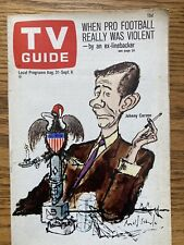 Central Indiana Edition Johnny Carson TV Guide August 1968