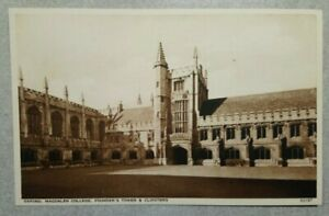 Oxford University Postcard: Magdalen College, Founders Tower, Cloisters Unposted