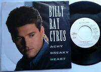 "Billy Ray Cyrus / Achy Breaky Heart / I'm So Miserable 7"" Single Vinyl 1992"