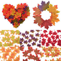 50Pcs Fake Maple Leaf Wedding Party Favour Autumn Home Decor Photo Supplies New