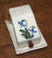 Antike Butterdose von Olly mit Schaniere um 1900 seltenes Stück