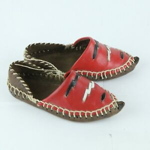 Handmade Double Leather Sole Toddler Moccasins Slippers Shoes EU 23 US 7 Native