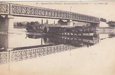 """BELLEVILLE 46 le passage du """"parisien"""" bateau vapeur écrite 1916"""