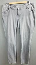 "Old Navy Size 18 Petite Rockstar Skinny Slim Jeans Short Gray 27"" inseam Crop"