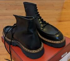 "$750 Mens Authentic Bally ""Lybern"" Leather Combat Boots Black 44 US 11"