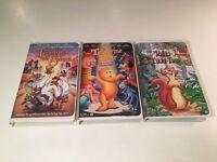 Family Animation Clamshell VHS Lot of 3 Tangerine Bear Rikki Tikki Trumpet Swan