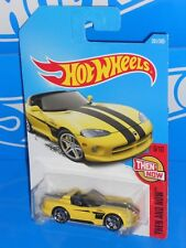 Hot Wheels 2017 Then And Now Series #281 Dodge Viper RT/10 Yellow w/ PR5s