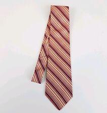 Joseph & Lyman for Bloomingdales Mens Tie Red Blue Striped 100% Silk