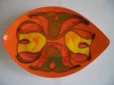 Collectable Poole Pottery Delphis Design Leaf / Teardrop shaped Dish