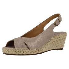 Wedge Suede Sandals Casual Heels for Women